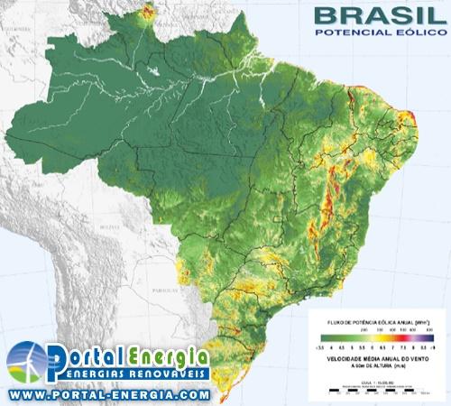 Potencial Eolico Brasil