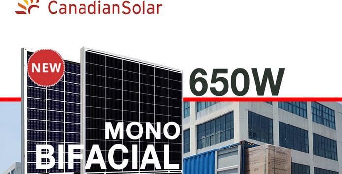 Painéis fotovoltaicos de 665W da Canadian Solar começaram a ser produzidos