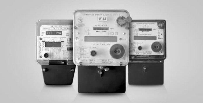 Contador eletricidade híbrido Reguladora, Schlumberger e Actaris