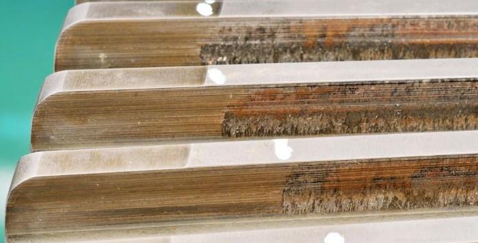 Exemplo de danos no estágio HSS - High Speed Shaft de uma caixa multiplicadora - Energia Eólica