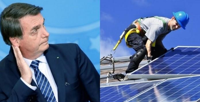 Jair Bolsonaro contra taxação da energia solar da Aneel