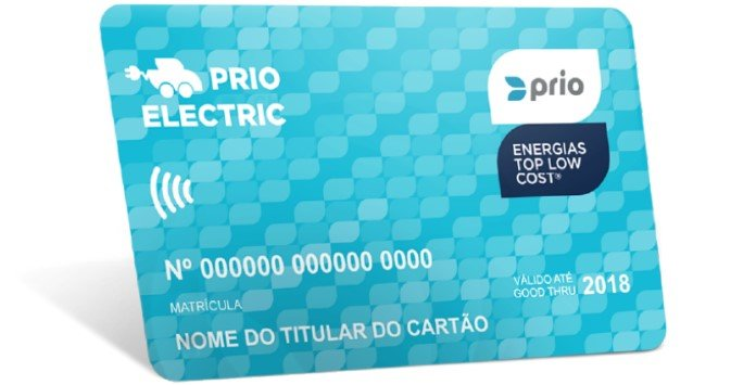 Cartão Prio Electric - Carregamento Carros Elétricos