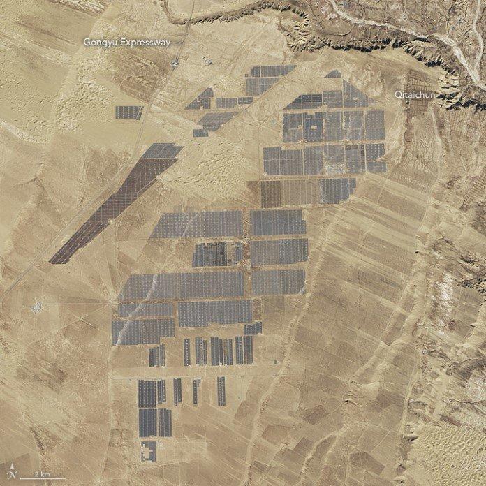 Fazenda solar em Longyangxia