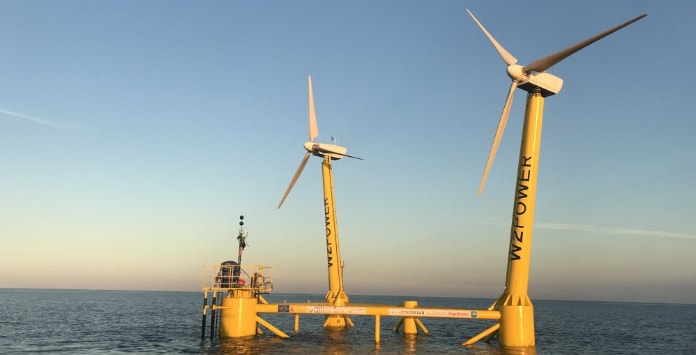 Enerocean, apresentou dois projetos eólicos offshore ao largo da ilha Gran Canaria, que vai contar com o seu aerogerador de dupla turbina.