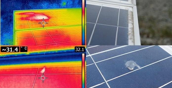 Falhas Painéis Solares Fotovoltaicos - Pontos Quentes