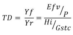 Fórmula Taxa de Desempenho - Painéis Solares Fotovoltaicos
