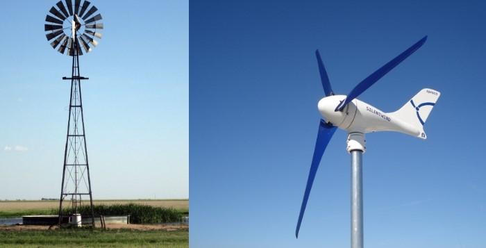 Tipos de aerogeradores segundo o rotor