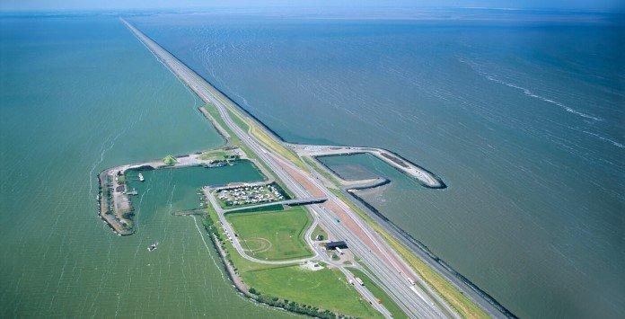 Lago Ijsselmeer na Holanda