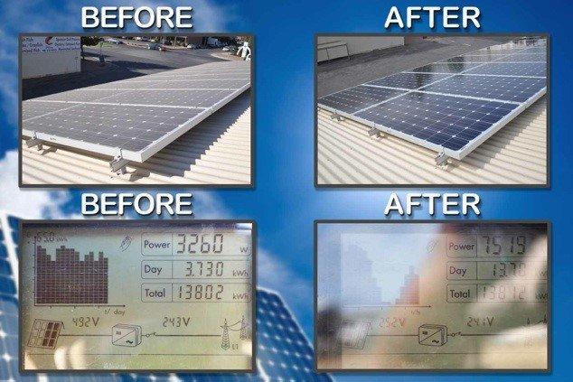 Limpar Painel Solar Fotovoltaico - Aumento de Eficiência