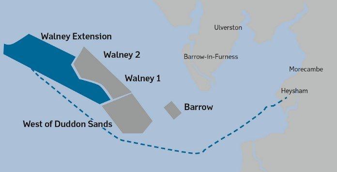 Localização Parque Eólico Walney Extension
