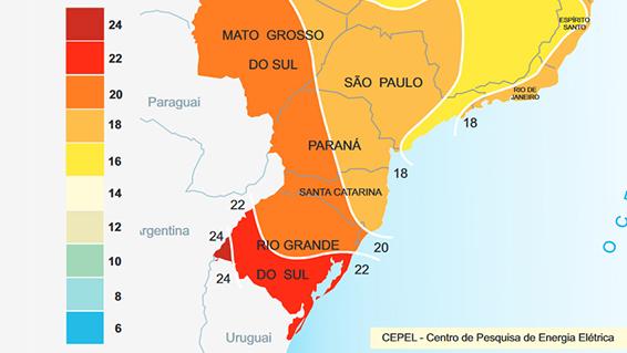 Mapa Solar Brasil