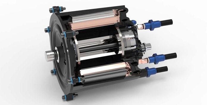 Motor elétrico do projeto DEMIL