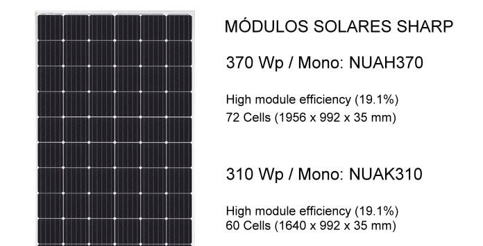 Painéis Solares Fotovoltaicos Sharp