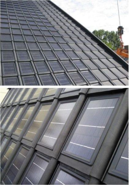 Painel Solar integrado nas Telhas Solares