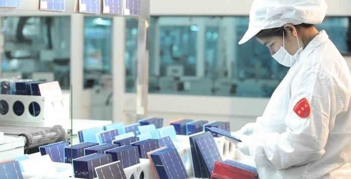 Fábrica Chinesa de produção de produtos solares fotovoltaicos