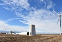 Queda de turbina eólica - França