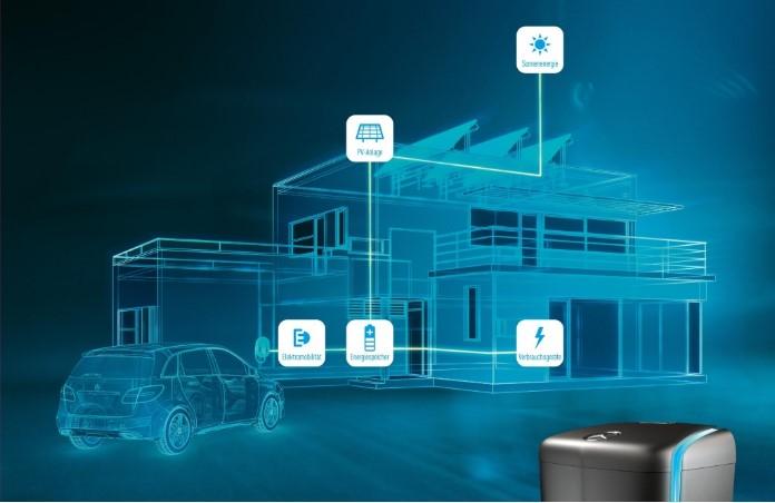 Sistema integrado da Mercedes para armazenamento energia solar
