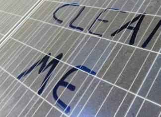 Sujidade painéis solares