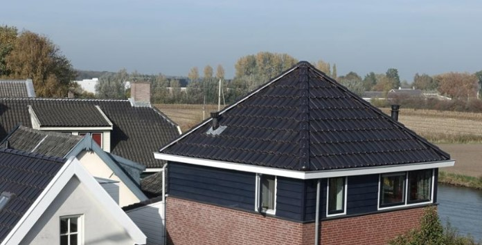 Exemplo de instalação de Telhas Solares cerâmicas