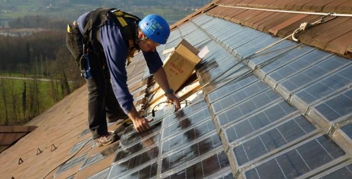 Telhas Solares fotovoltaicas de Vidro