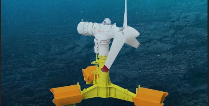Primeiro teste de turbina de energia das marés