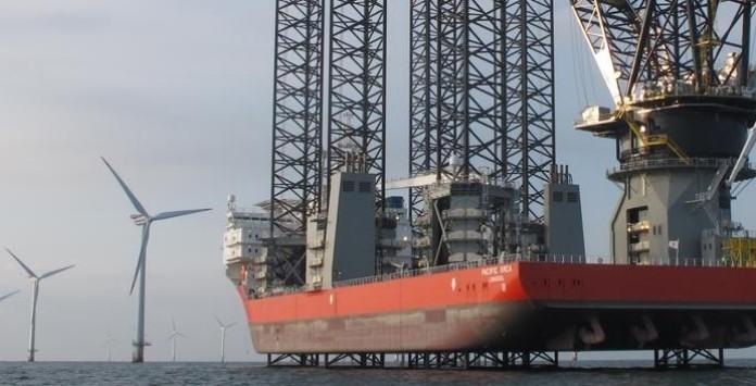 Plataforma de Instalação Pacific Orca - Turbina Eólica Offshore Vestas V164