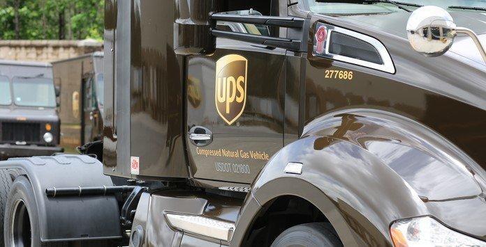 UPS veículos frota de gás natural