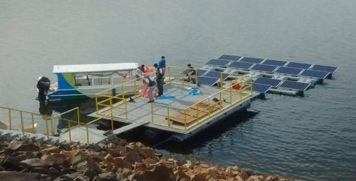 Protótipo flutuante de Energia Solar Fotovoltaica na Hidroelétrica da Balbina.
