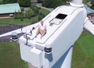 video-drone-homem-aerogerador